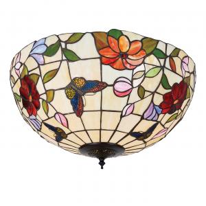 Flush Light - Tiffany art glass