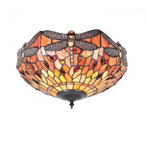 Flush Light - Tiffany style glass