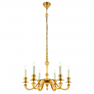 Pendant Light - Solid brass & gloss cream paint