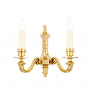 Wall Light - Solid brass & gloss cream paint