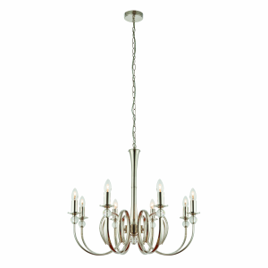 Pendant Light - Polished nickel plate & clear crystal