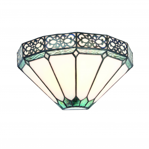Wall Light - Tiffany style glass & matt black