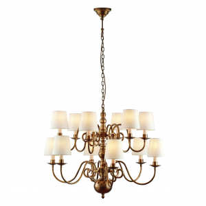 Pendant Light - Solid mellow brass & marble silk