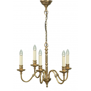 Pendant Light - Solid mellow brass & gloss ivory paint