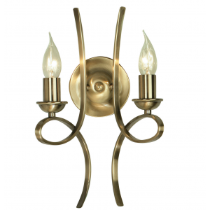 Wall Light - Brushed brass effect plate