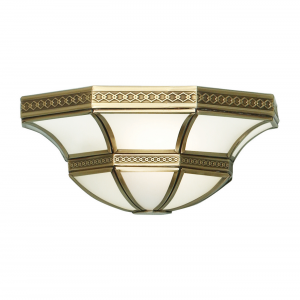 Wall Light - Antique brass finish & frosted glass