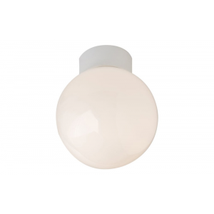 Traditional Opal Glass Globe IP44 Bathroom Ceiling Light Fitting