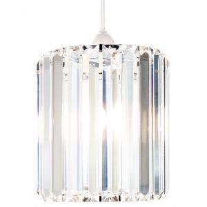 Modern Designer Clear Glass Pendant Light Shade with Chrome Metal Frame