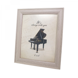 """Grey Wood-effect Photo Frame for Table or Wall 