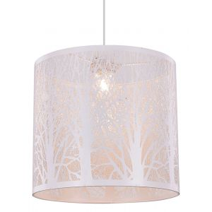 Unique and Beautiful Matt White Metal Forest Design Ceiling Pendant Shade