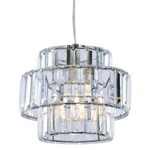 Modern Transparent Acrylic Non Electric Pendant Shade with Chrome Metal Frame