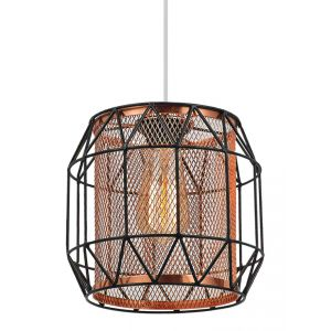 Black Gloss and Polished Copper Industrial Non Electrical Pendant Light Shade
