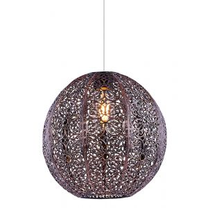 Unique Antique Copper Moroccan Themed Pendant Light Shade with Intricate Design