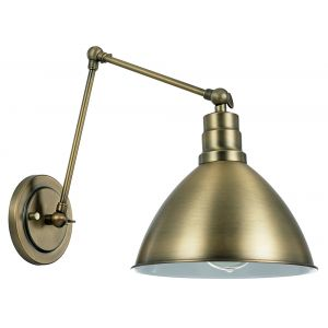 Industrial and Trendy Antique Brass Wall Lamp with Three Adjustable Joints