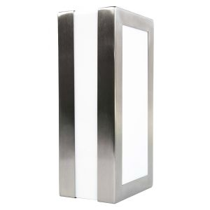 Modern and Stylish Outdoor Rectangular Wall or Ceiling Light in Stainless Steel