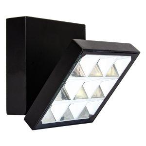 Modern Square LED Exterior IP54 Wall or Ceiling Light Fixture in Matt Black