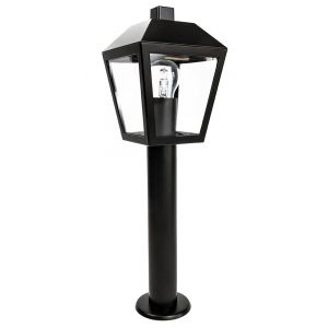 Traditional and Unique Outdoor Matt Black Lantern Post Light with IP44 Rating