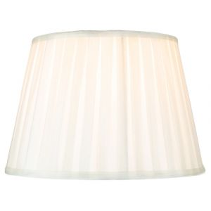 """Traditional Classic Cream Faux Silk Pleated Inner Lined Lamp Shade - 14"""""""