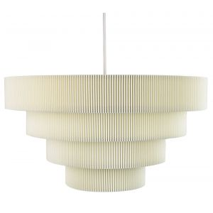 Contemporary Cream Micro Pleat Four-Tier Textile Pendant Light Shade 60w Maximum