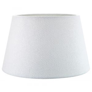 Traditional 14 Inch White Linen Fabric Drum Table/Pendant Lampshade 60w Maximum