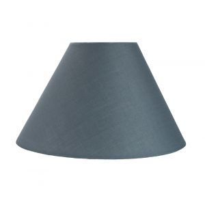 """Traditional 12"""" Grey Cotton Coolie Lampshade Suitable for Table Lamp or Pendant"""