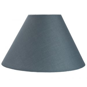 "Traditional 14"" Grey Cotton Coolie Lampshade Suitable for Table Lamp or Pendant"