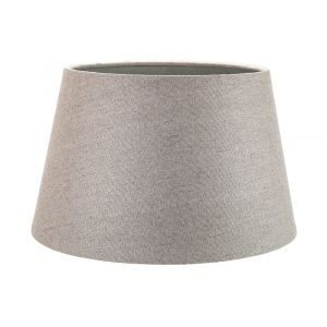 Traditional 12 Inch Grey Linen Fabric Drum Table/Pendant Lampshade 60w Maximum