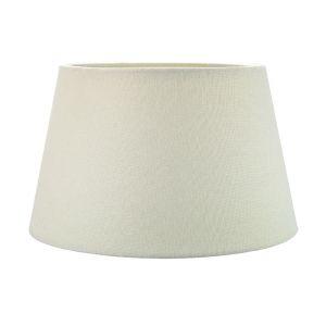 Traditional 12 Inch Cream Linen Fabric Drum Table/Pendant Lampshade 60w Maximum