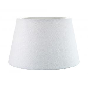 Traditional 12 Inch White Linen Fabric Drum Table/Pendant Lampshade 60w Maximum