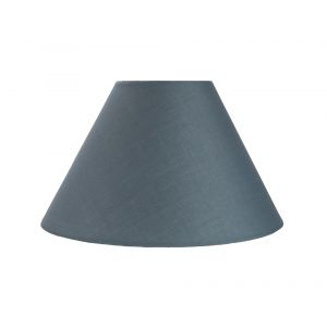 """Traditional 10"""" Grey Cotton Coolie Lampshade Suitable for Table Lamp or Pendant"""