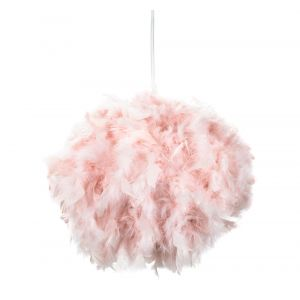 Eye-Catching and Modern Small Pink Feather Decorated Pendant Lighting Shade