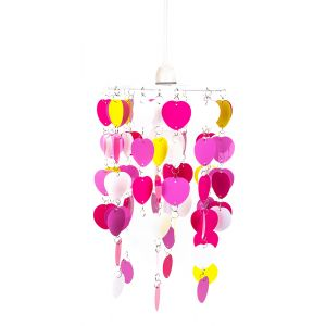 Multi Coloured Butterfly Childrens Bedroom/Nursery Ceiling Pendant Light Shade