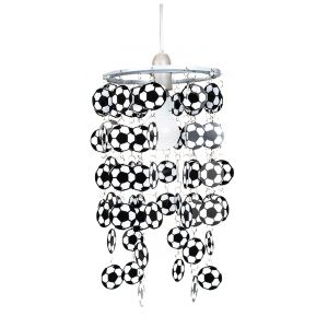 Black and White Football Childrens Bedroom/Nursery Ceiling Pendant Light Shade