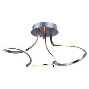 Contemporary 3-Step Dimmable 19watt LED Ceiling Light Fixture with Curling Arms
