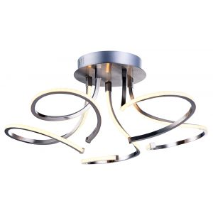 Contemporary 3-Step Dimmable 32watt LED Ceiling Light Fixture with Curling Arms