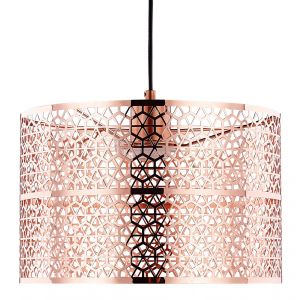 Designer and Chic Copper Plated Pendant Light Shade with Laser Cut Metal Shade