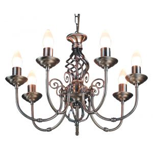 7 Light Antique Brass Classic Knot Twist Chandelier Ceiling Light Fitting