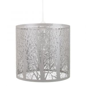 Unique and Beautiful Soft Grey Metal Forest Design Ceiling Pendant Shade