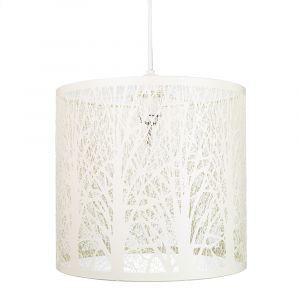 Unique and Beautiful Soft Cream Metal Forest Design Ceiling Pendant Shade