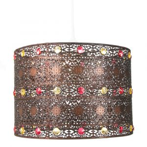 Antique Bronze Acrylic Gem Moroccan Style Chandelier Pendant Light Shade Fitting