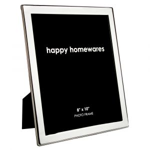 """Quality Modern Silver Plated Contemporary 8"""" x 10"""" Single Picture Photo Frame"""