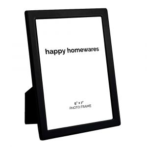 """Quality Modern Black Nickel Contemporary 5"""" x 7"""" Single Picture Photo Frame"""