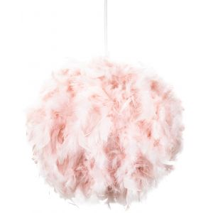 Eye-Catching and Designer Small Pink Feather Decorated Pendant Lighting Shade