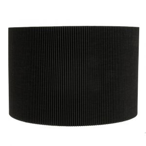 Contemporary Designer Black Micro Pleat Ribbed Cotton Wall Lighting Fitting
