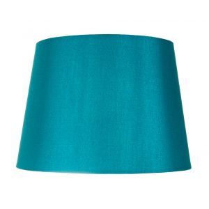 "Traditionally Designed Medium 12"" Drum Lamp Shade in Sleek Teal Faux Silk Fabric"
