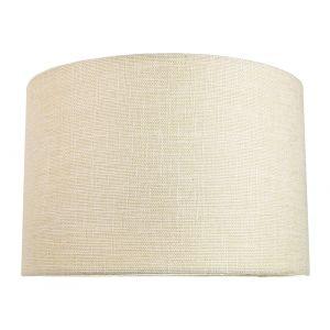 Contemporary and Sleek 12 Inch Cream Linen Fabric Drum Lamp Shade 60w Maximum