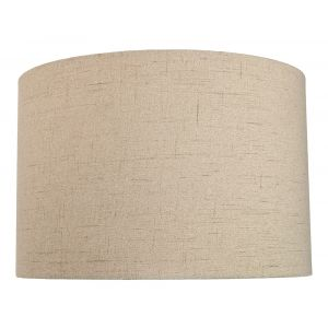 Contemporary and Sleek Taupe Textured Linen Fabric Drum Lamp Shade 60w Maximum
