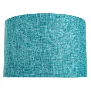 Contemporary and Sleek 12 Inch Teal Linen Fabric Drum Lamp Shade 60w Maximum