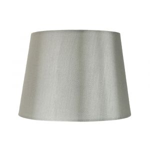 "Traditionally Designed Medium 10"" Drum Lamp Shade in Sleek Grey Faux Silk Fabric"