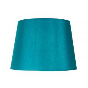 "Traditionally Designed Medium 10"" Drum Lamp Shade in Sleek Teal Faux Silk Fabric"
